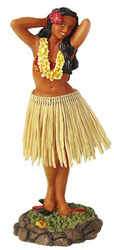 The popular dashboard hula dancer - acailable at Hawaiian Luau Party Supply
