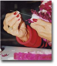 By using a special 10 inch needle, lei makers can create many beautiful varieties of leis